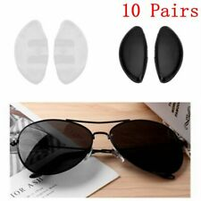 10Pair Silicone Anti-Slip Stick On Nose Pads Gasket Replace for Glasses Eyeglass