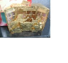 1997 Carlton TO ALL A GOOD NIGHT Gold Filigree Lighted Ornament