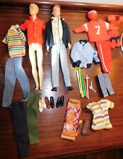 Vtg Mattel Ken & Allan Doll with Clothes Accessories Football Shirt Pants Outfit