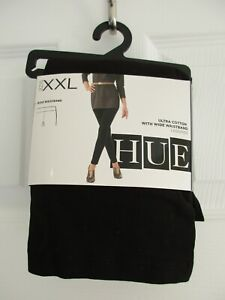HUE  Womens Ultra Cotton Legging with Wide Waistband BLACK Size XXL *NEW*