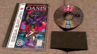 The Legend of Oasis Sega Saturn CD Video Game Complete Case & Manual CIB Lot!