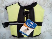 Dog Life Vest Reflective Flotation Sz XS High Visablity Yellow Petco NEW