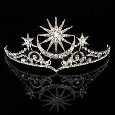 Crystal Wedding Bridal Star Crown Headband Tiara Prom Jewelry Hair Accessories