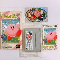Hoshi no Kirby 3 Nintendo Super Famicom SFC SNES Japan Game w/manual box