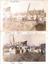 1946 Cleveland Ohio Harbor Crowd Watch Teen Young Boys Boxing Fist Fight Photos