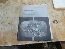 John Deere 37 Front End Loader Operators Manual Book Om C17646