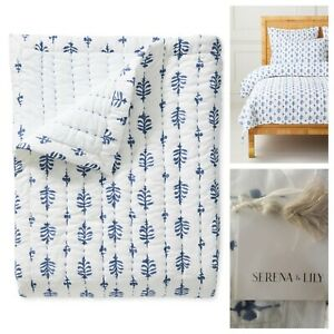 Serena and Lily Cambria Quilt Full / Queen French Blue NWT Retails $348