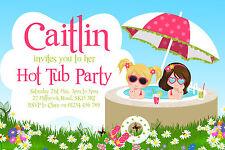 10 personalizzata vasca idromassaggio Party Inviti-PISCINA GIARDINO Compleanno