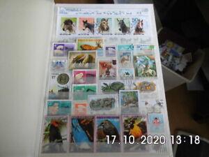 40 seitiges Briefmarken A4 Album mit über 400 Tiermotive Marken alle Welt -