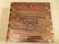 Monopoly NASCAR 50th Anniversary Limited Collector's Edition board game 1998 NEW