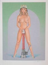 Mel Ramos - Burning Flame - La Bomba - 2012, Pop Art Grafik Offsetlithografie
