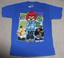 GRAPHIC T's - ANGRY BIRDS - BOYS ROYAL BLUE T-SHIRT SIZE 14/16