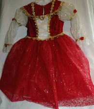 DISNEY PARK PRINCESS BELLE RED COSTUME GOWN GIRL SIZE 2-3 BEAUTIFUL DELUXE NEW