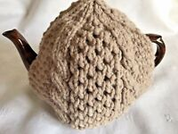 Hand Knitted Aran Tea Cosy Suitable for medium to large pot (about 1 & 1/2 Pint)