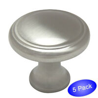 *50 Pack* Cosmas Flat//Matte Black Traditional Solid Round Cabinet Knobs #5305FB