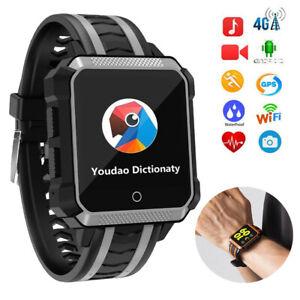 Smart Watch 4G WIFI GPS Tracker Video Call IP68 Waterproof Sports Bracelet Men