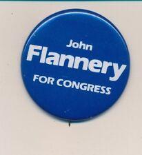 "1984 John Flannery for US Congress 2 1/4"" litho Virginia VA campaign button"