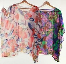 Batwing, Dolman Sleeve Multi-Colored Plus Size Tops & Blouses for Women