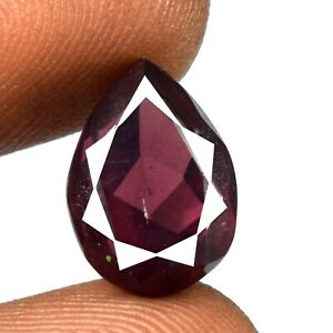 AAA Quality 7.75 Ct Pink Rhodolite Garnet Pear Gemstone Natural Certified A75217