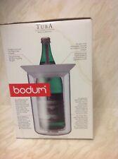 Bodum wine cooler not been used in original box clear plastic made in Switzerlan
