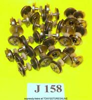 j158 jouef new spares 20x wheeled/geared axles silvered application unknown