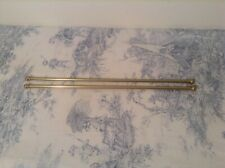 Pair French Brass Cafe Curtain Rods - Extendable ~ 40 - 64cm