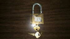 MAKE OFFER! Vintage ILCO Brass Padlock Lock with 2 Keys WORKING Made in the USA