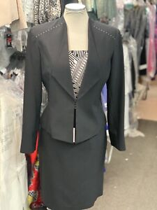 JOHN MEYER SKIRT SUIT /RETAIL$240/SIZE 16/NEW WITH TAG/LINED/BLACK/LINED