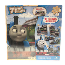 Thomas & Friends 7 Wood Puzzles by Cardinal 2014 Sealed Train Puzzle Set