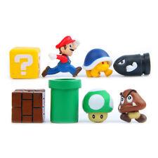 8pcs Super Mario Bros Yoshi Luigi Goomba Mini Action Figures Toy Playset Gift