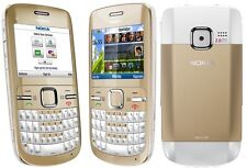 Original Nokia C3-00 White Gold Wifi Qwerty Keypad Unlocked Genuine Mobile Phone