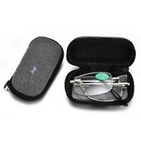 Reading Glasses Folding Foldable Readers Includes Glasses Case