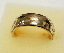 Men's Tungsten Ring 14K Gold Wedding Band Infinity Bridal Jewelry Size 9.5. 8MM