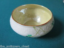 "Belleek Pottery (Ireland) Shamrock Open Sugar Bowl, white, 2 1/4"" tall"