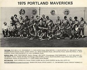 1975 PORTLAND MAVERICKS 8X10 TEAM PHOTO BASEBALL PICTURE PCL