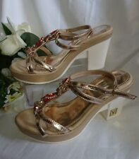 SANDALETTE SCHUHE PARTY GR. 38(37) Beige  Sommer MADE IN ITALY SALE SALE
