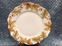 Pier 1 MAZEY Dinner Plate -10 1/2 Inch -Fall Leaves  Autumn Thanksgiving EUC (1)