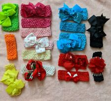 Baby Toddler Headbands Lot of 15 Girls  Mixed Infant Pink Red Black Colors  Hair