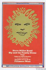 Bill Graham 151 Postcard Ad Back Steve Miller Band 1968 Dec 26