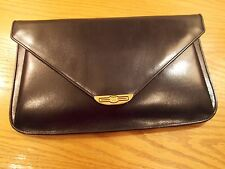 Vintage Gucci Navy Blue Leather Large Clutch Portfolio Briefcase in EUC!!!!!