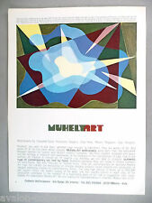 Muhely Art Carpet Tapestry Art Gallery Exhibit PRINT AD - 1976