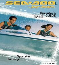 Sea-Doo Owners Manual Book 1998 Challenger / Sportster