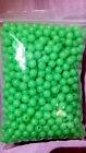 Qty 500 .Green 8x8 MM  Round Soft Rubber Luminou Fishing Beads Glowing