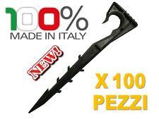 100 Picchetti Ancoraggio Ferma Tubo Gocciolante da 16 mm o 20 mm| Altezza 18 cm