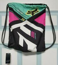 New Fox Racing Divizion Cinch Sack Bag Black/Multi Color 16076-001