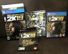 NBA 2K19 (PlayStation 4 PS4) 20th Anniversary Edition, Complete With poster.