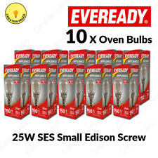 10 X Oven Bulb 300°C Cooker Appliance Rated Lamp Light 25W 240V SES E14 Eveready