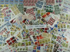 Weeda Canada Postage Lot of 1000 x 6c stamps, mostly NH, $60 Face Value, useful!