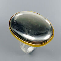 Pyrite Ring Silver 925 Sterling Fine Art Jewelry Size 9 /R134286