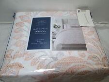 Royal Heritage Home CORINA Medallion King Duvet Cover Set ~ Pale Coral, Gray NEW
